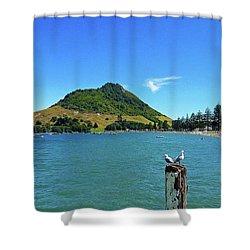 Pilot Bay Beach 2 - Mount Maunganui Tauranga New Zealand Shower Curtain