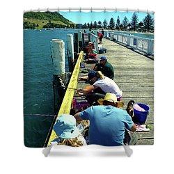 Pilot Bay Beach 6 - Mount Maunganui Tauranga New Zealand Shower Curtain