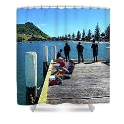 Pilot Bay Beach 7 - Mt Maunganui Tauranga New Zealand Shower Curtain