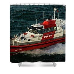 Pilot Boat Wellington Shower Curtain