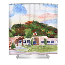 Shower Curtain featuring the painting Pilot Knob Mountain W401  by Kip DeVore