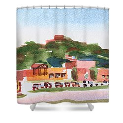 Shower Curtain featuring the painting Pilot Knob Mountain W402 by Kip DeVore