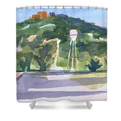 Shower Curtain featuring the painting Pilot Knob Mountain W404 by Kip DeVore