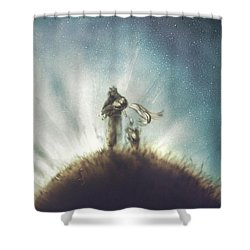 Pilot, Little Prince And Fox Shower Curtain