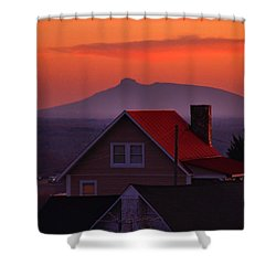 Pilot Sunset Overlook Shower Curtain