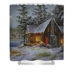 Pine Cove Cabin Shower Curtain