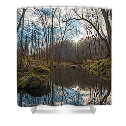 Shower Curtain featuring the photograph Pine Creek by Dan Traun