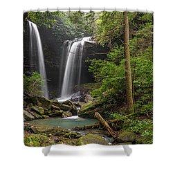 Pine Island Falls Shower Curtain