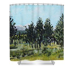 Pine Landscape No. 4 Shower Curtain