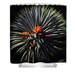 Pine Rose Shower Curtain