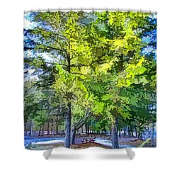 Pine Tree 1 Shower Curtain by Lanjee Chee