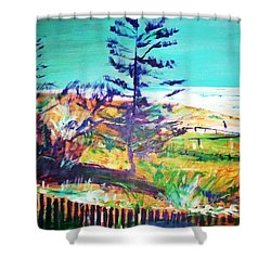 Pine Tree Pandanus Shower Curtain