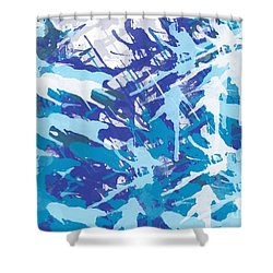 Pine Trees Shower Curtain by Trilby Cole