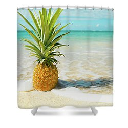 Shower Curtain featuring the photograph Pineapple Beach by Sharon Mau