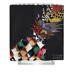 Pineapple Brocade Shower Curtain by Mindy Sommers