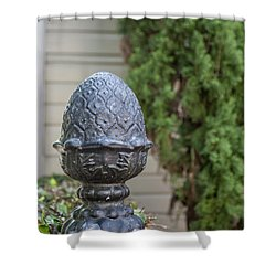 Pineapple Finial Shower Curtain