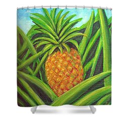 Pineapple Painting #332 Shower Curtain by Donald k Hall