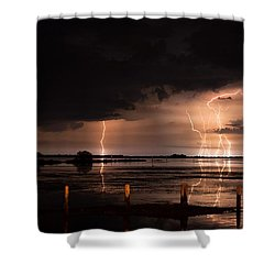 Pineland Nights Shower Curtain