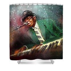 Pinetop Perkins Shower Curtain by Miki De Goodaboom