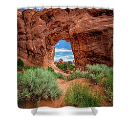 Pinetree Arch Shower Curtain