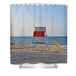 Piney Point Beach Shower Curtain by Bill Cannon