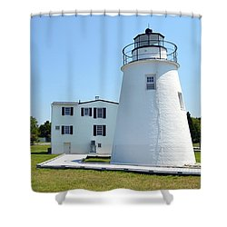 Piney Point Lighthouse Shower Curtain