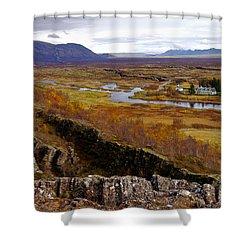 Pingvellir National Park Iceland Shower Curtain