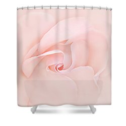 Pink Abstract Rose Flower Shower Curtain by Jennie Marie Schell