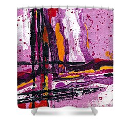 Pink Abstraction Shower Curtain