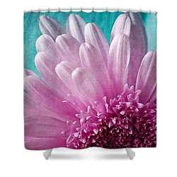 Pink And Aqua Shower Curtain by Dale Kincaid