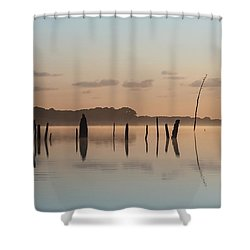 Pink And Blue Skies Shower Curtain
