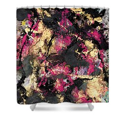 Pink And Gold Merge Shower Curtain