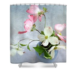 Pink And White Dogwood Still Shower Curtain