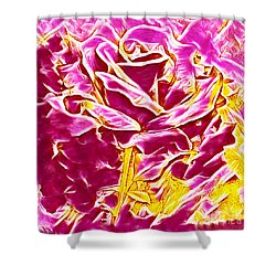 Pink And Yellow Rose Shower Curtain