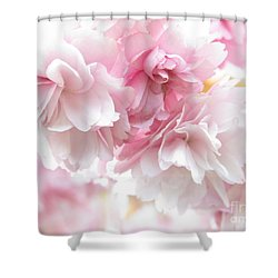 Pink April Shower Curtain