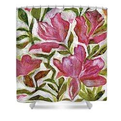 Pink Azaleas Shower Curtain by Julie Maas