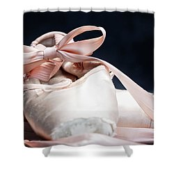 Pink Ballerina Pointe Shoes Shower Curtain