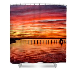 Pink Bay Shower Curtain
