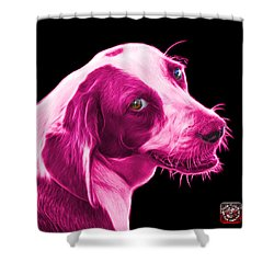 Pink Beagle Dog Art- 6896 - Bb Shower Curtain by James Ahn