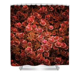 Pink Bionica Roses Shower Curtain