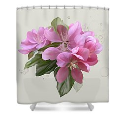 Pink Blossoms Shower Curtain by Ivana Westin