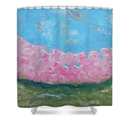 Pink Boxwoods Shower Curtain by Sue Furrow