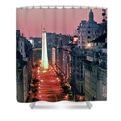 Pink Buenos Aires  Shower Curtain