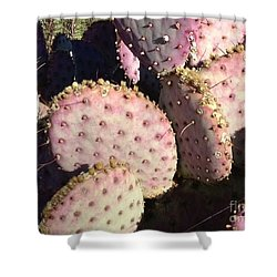 Pink Cacti Shower Curtain