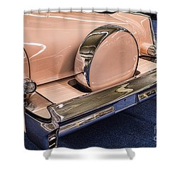 Pink Caddy Shower Curtain