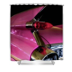 Pink Cadillac Shower Curtain by Trey Foerster