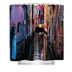 Pink Canal Shower Curtain by Harry Spitz