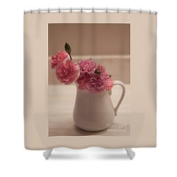 Pink Carnations Shower Curtain by Sherry Hallemeier