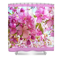 Pink Cherry Blossoms Shower Curtain