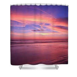 Pink Sky And Ocean Shower Curtain